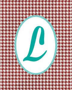 Red Monogram L