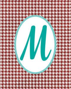 Red Monogram M