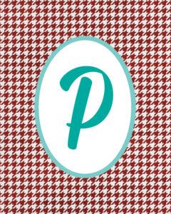 Red Monogram P