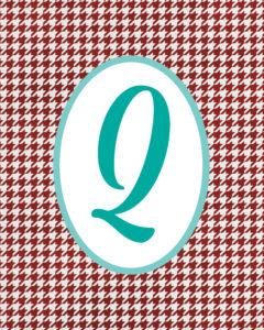 Red Monogram Q