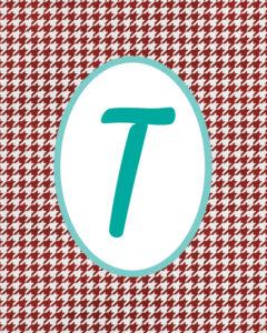 Red Monogram T