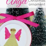 These fabric angel Christmas ornaments are so cute, and they are a great way to use up fabric scraps! #SwellNoel