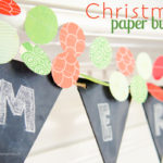 Easy Paper Circle Garland #SwellNoel