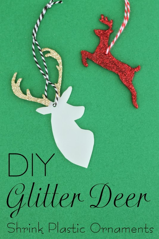 What a terrific idea! Make Christmas ornaments with shrink plastic and glitter! #swellnoel