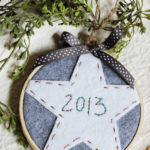 Easy Embroidery Hoop Christmas Ornament