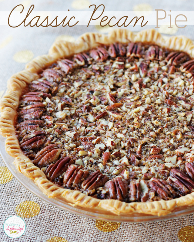 This recipe for classic pecan pie at Positively Splendid looks absolutely delicious! Perfect for Thanksgiving!