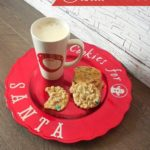 Make a special plate just for Santa's cookies this year! So easy and cute!