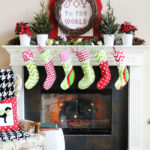 Traditional Christmas Mantel (Holiday Idea Exchange!)