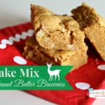 Cake Mix Peanut Butter Brownies. These look so good, and they are so easy to make! #SwellNoel