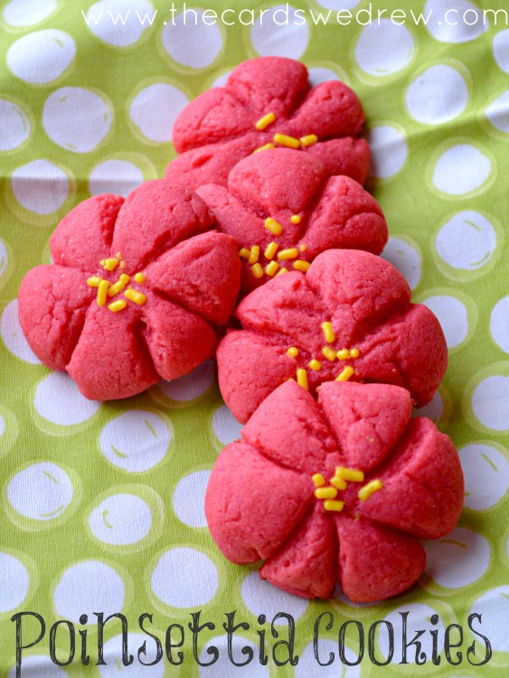 Poinsettia Cookie Recipe #SwellNoel