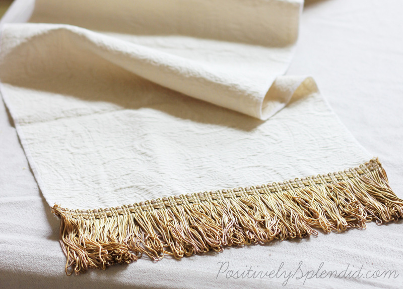 Easy Fringed Table Runner - Made in minutes, and perfect for beginners!