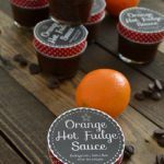 Orange Hot Fudge Sauce Gift Idea with Free Printables #SwellNoel