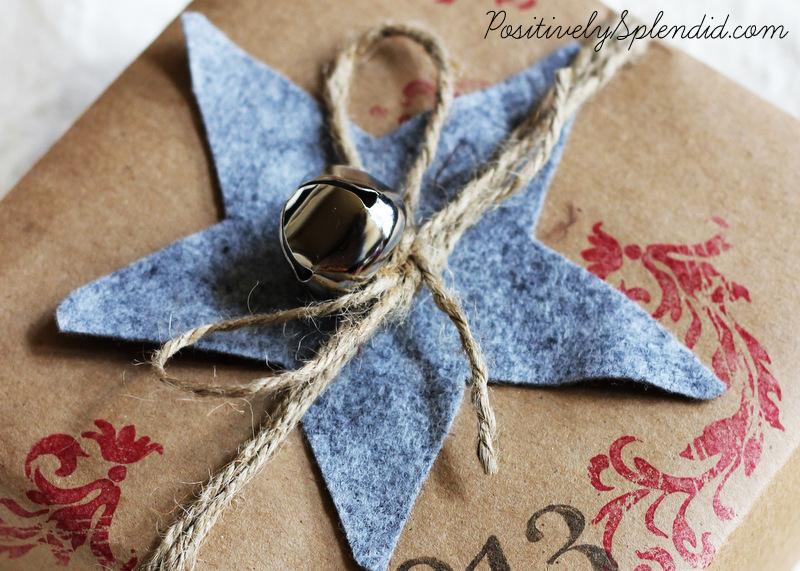 stamped kraft paper gift wrap-001