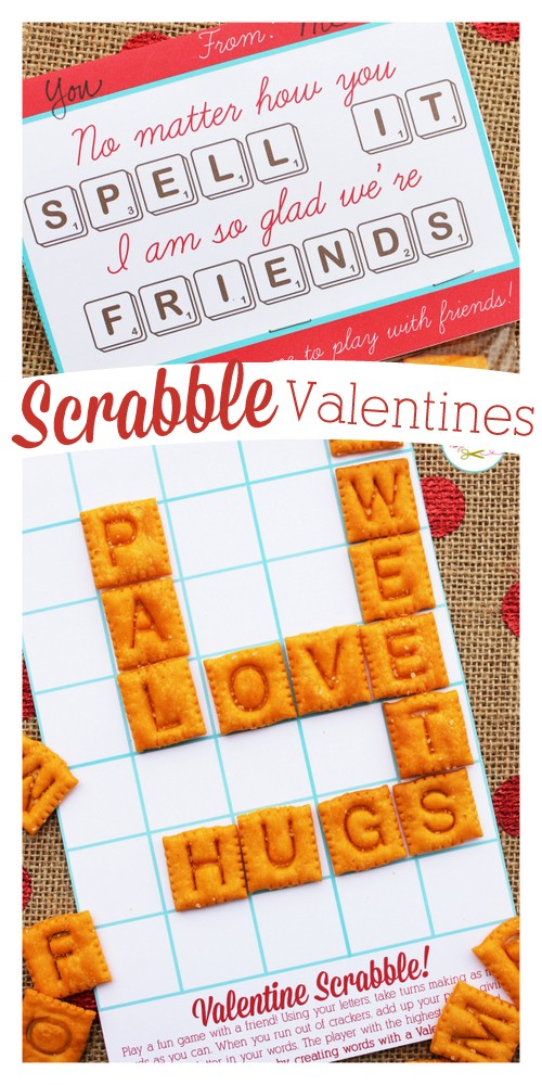 graphic about Free Printable Scrabble Board known as Edible Scrabble Valentines with Totally free Printables