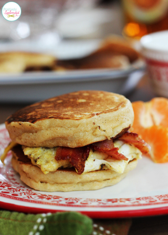 Homemade McGriddles sandwiches made with perfect buttermilk pancakes. So yummy!!