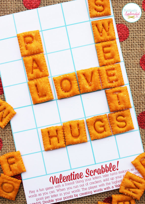 photo regarding Free Printable Scrabble Board called Edible Scrabble Valentines with Totally free Printables