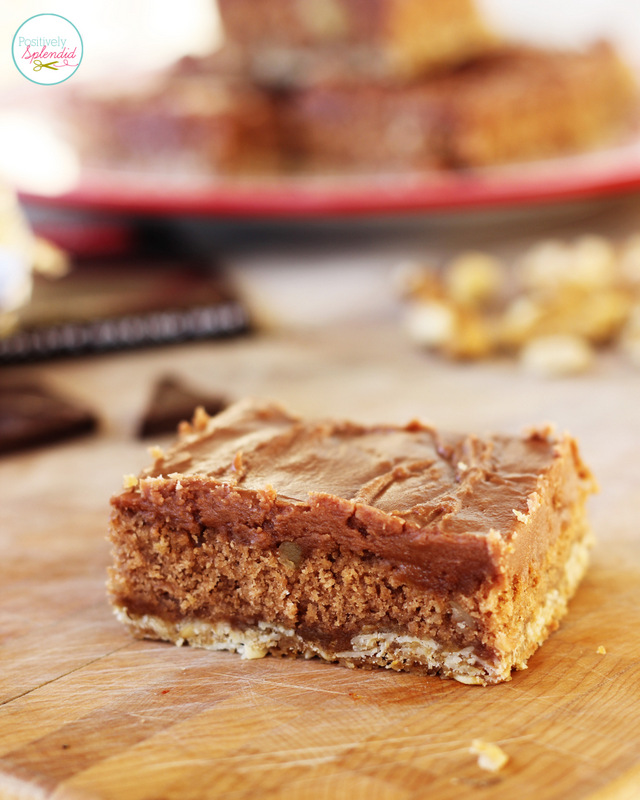 These triple-layer brownie bars look downright decadent! Yum!