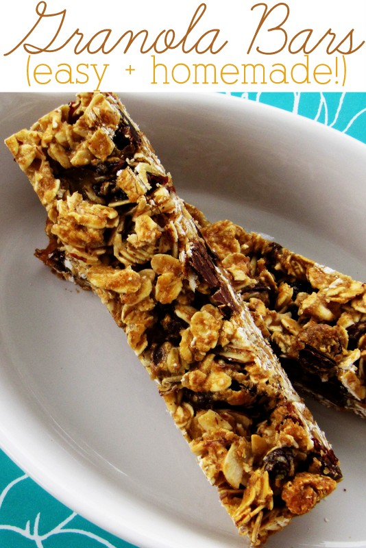 Skip the store-bought version and make granola bars from scratch. Easy and so delicious!