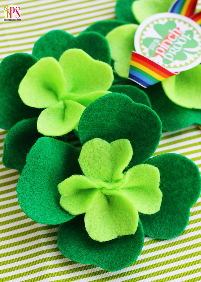 Felt Shamrocks | Easy St Patrick's Day Decorations | Sewing Projects | Featured
