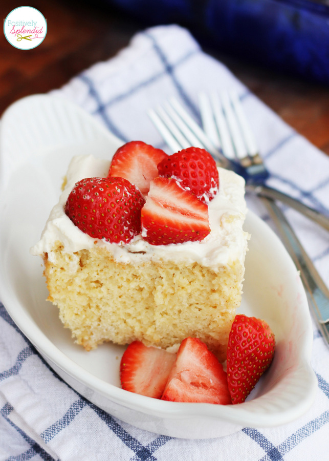 Tres leches cake recipe - Cake and sweet custard all in one. Indescribably good!