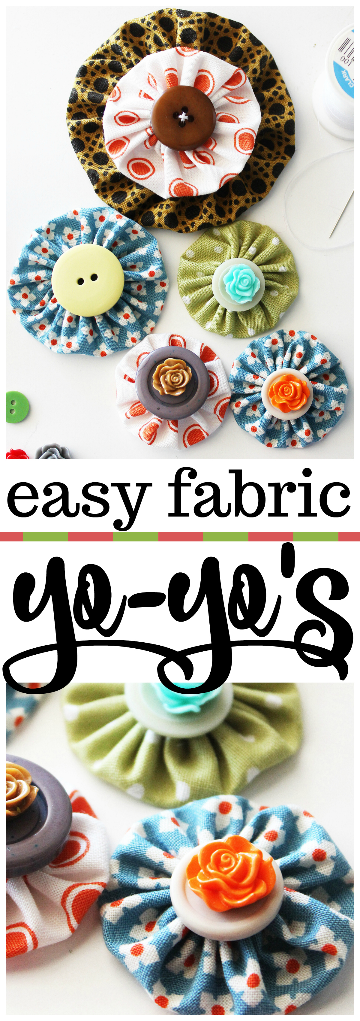 How to Make an Easy Fabric Yo-Yo