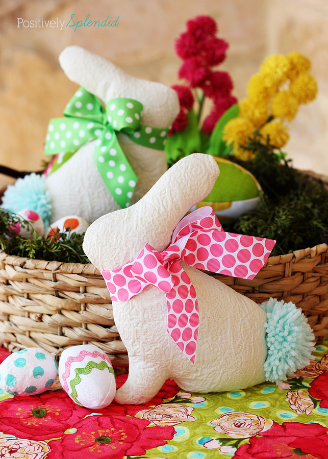 Stuffed Easter Bunny Sewing Pattern - Adorable Easter sewing project!
