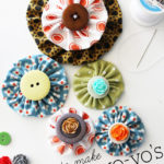 Fabric Yo-Yo Tutorial with Free Printable Templates