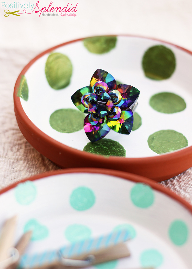 Polka dot trinket dishes by Positively Splendid
