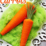 Yarn-Wrapped Carrots