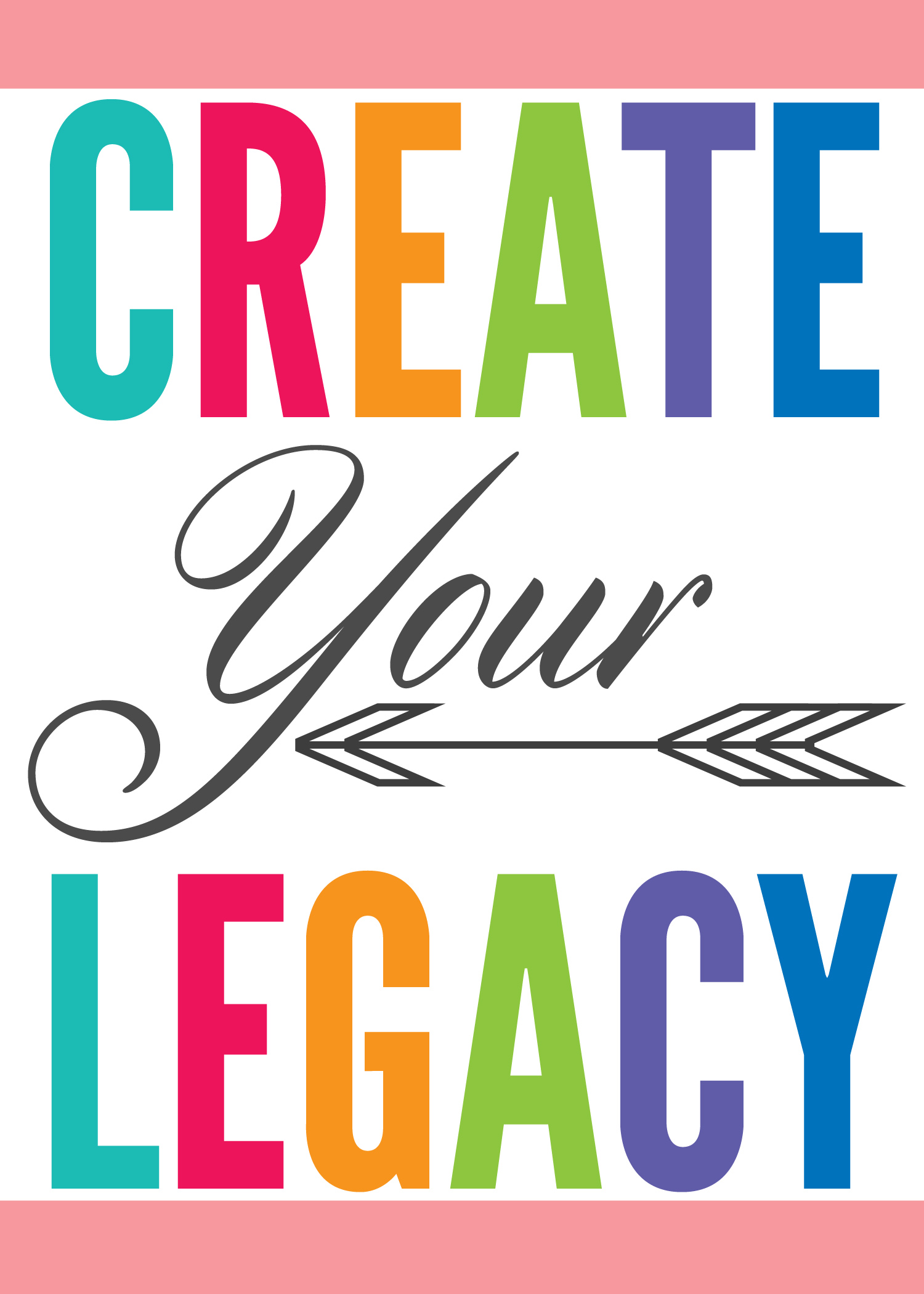 Create Your Legacy - Inspirational thoughts at Positively Splendid about the importance of creativity