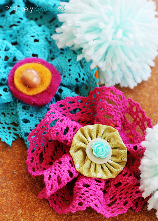 How to make lace flowers. You will never believe how easy they are!