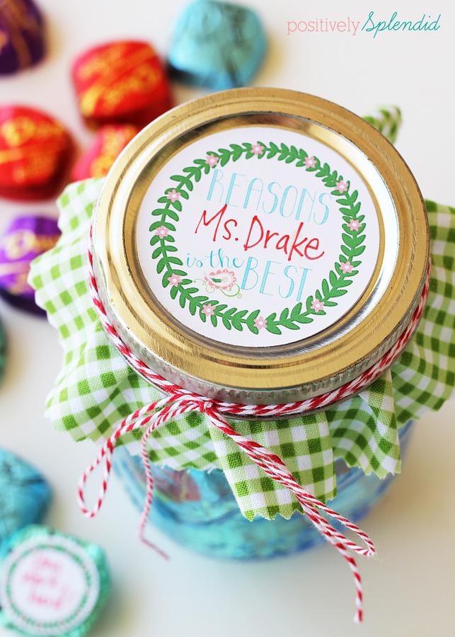 Mason jar teacher appreciation gift #SharetheDOVE