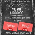 $1000 Michaels Teacher Appreciation Giveaway! #teacherappreciation