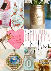 The ultimate round-up of handmade gifts for women! More than 40 great ideas perfect for moms, teachers, graduates and more.
