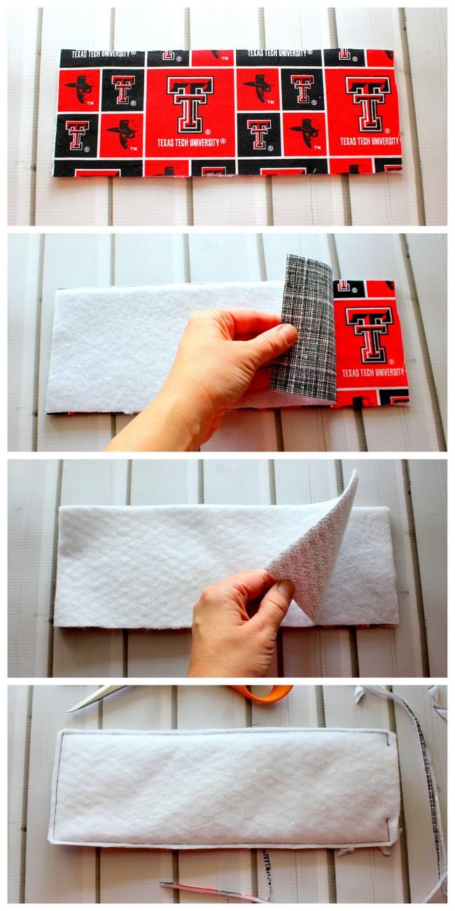 How to make a DIY fabric koozie.