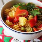 Gluten-Free Asian Quinoa Pasta Salad - Perfect for serving at cookouts!