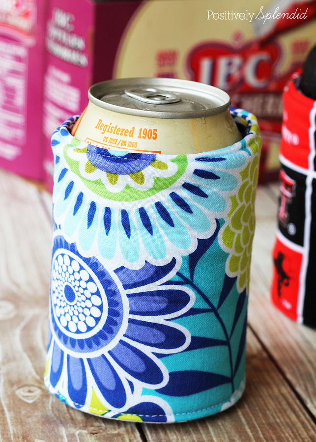 Diy Insulated Fabric Beverage Holders Koozies
