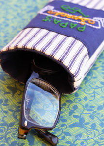 Men's eyeglass case sewing tutorial. What a great gift idea!