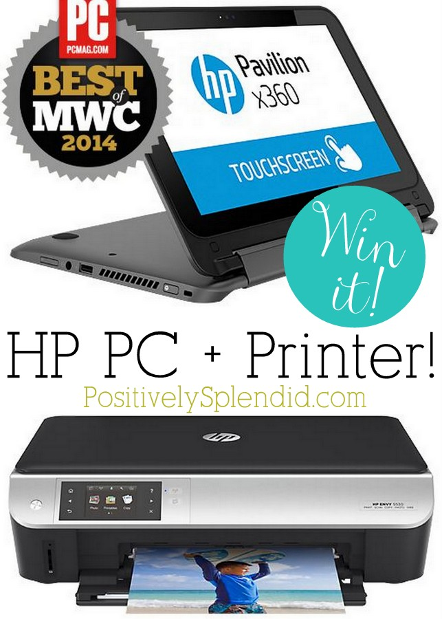 HP PC and Printer Giveaway at Positively Splendid! #HPFamilyTime