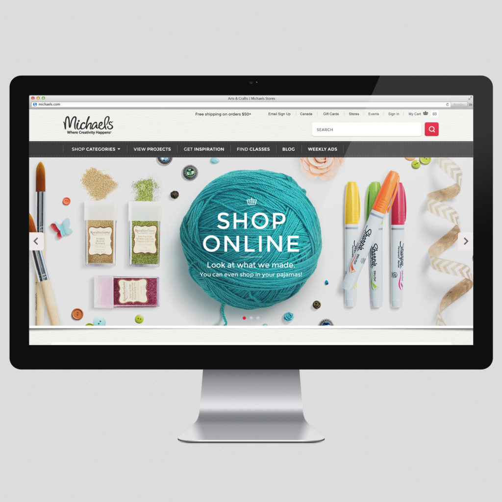 Online shopping at Michaels.com