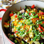 Loaded Blue Corn Nachos. Easy, healthy, and delicious!