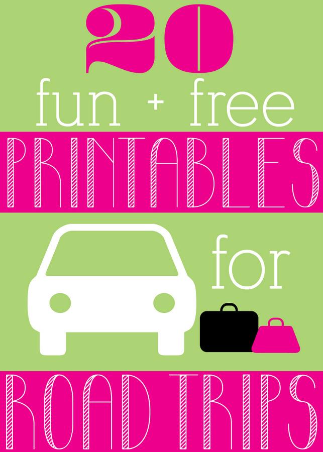 20 Fun Free Road Trip Printables Hpfamilytime on Pinterest Dr Seuss Fun Games
