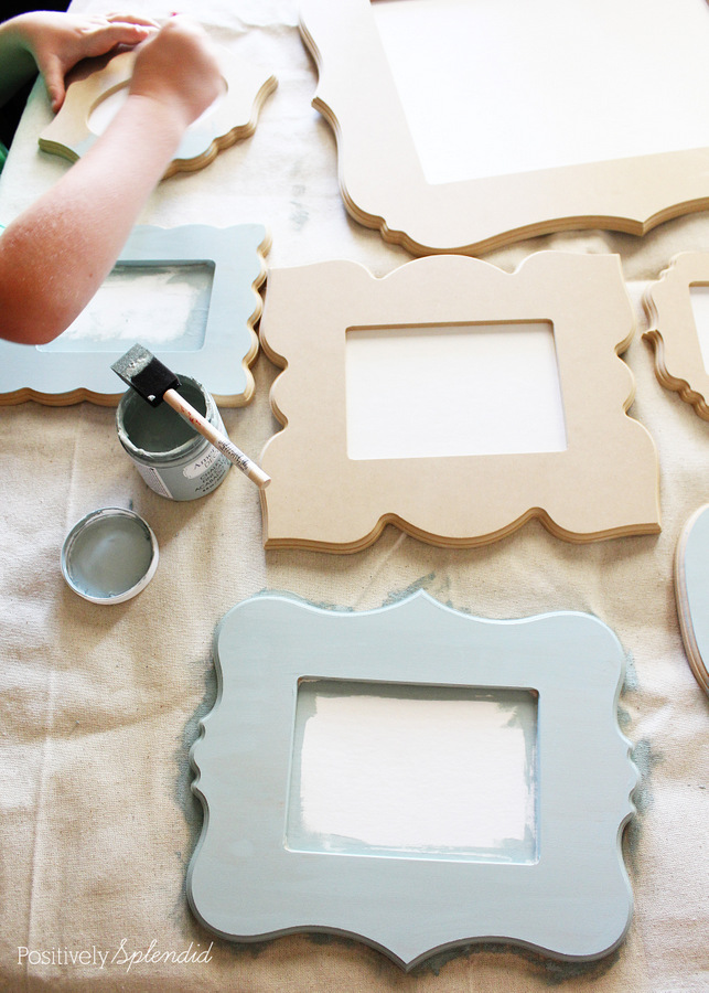 Cut It Out Frames. These frames come in so many great shapes, and they are unfinished so you can paint them any color you please! So fun!