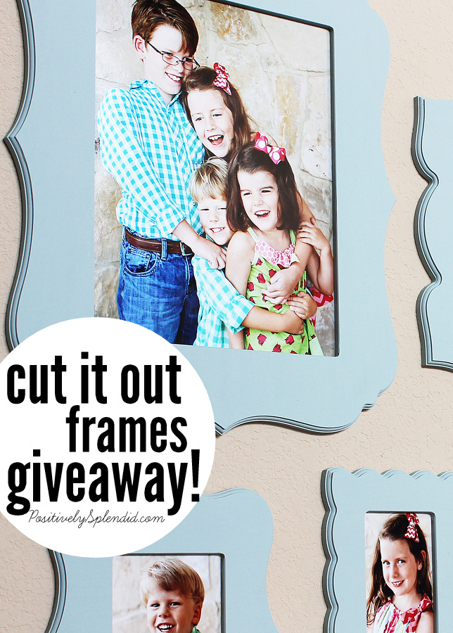 Cut It Out Frames Giveaway at Positively Splendid