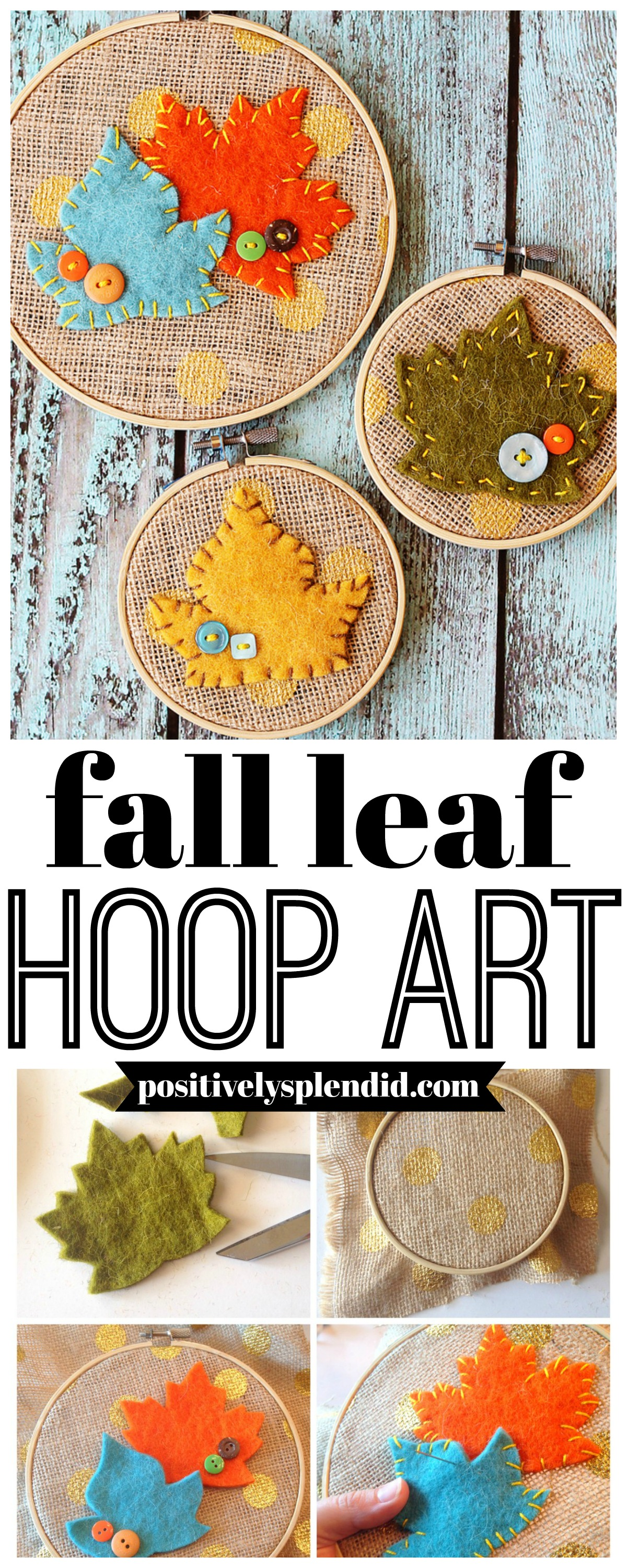 Fall Leaf Hoop Art