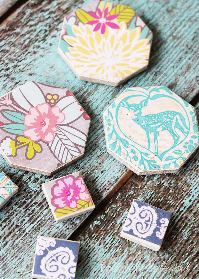 Decoupaged Tile Magnets by Positively Splendid