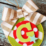 DIY Monogram Christmas Ornament