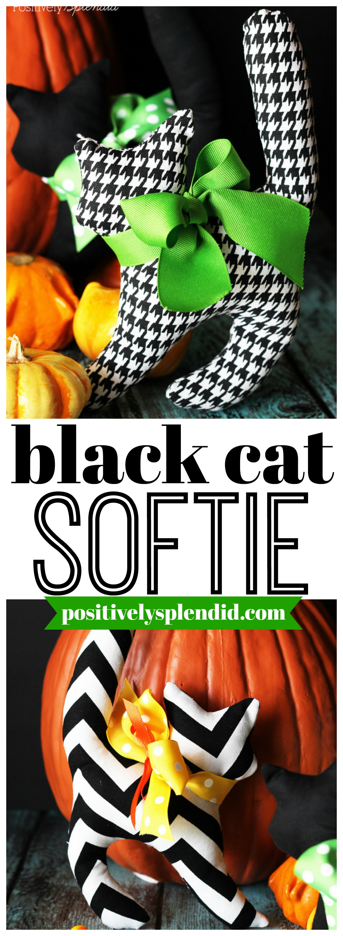 Black Cat Softie Sewing Pattern