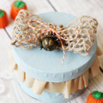 Paper Mache Fall Treat Box