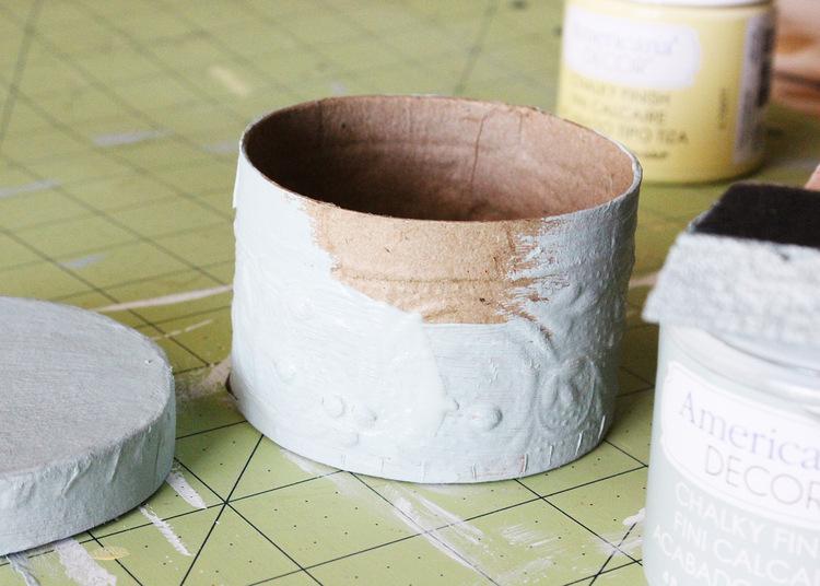 Paper Mache Fall Treat Box